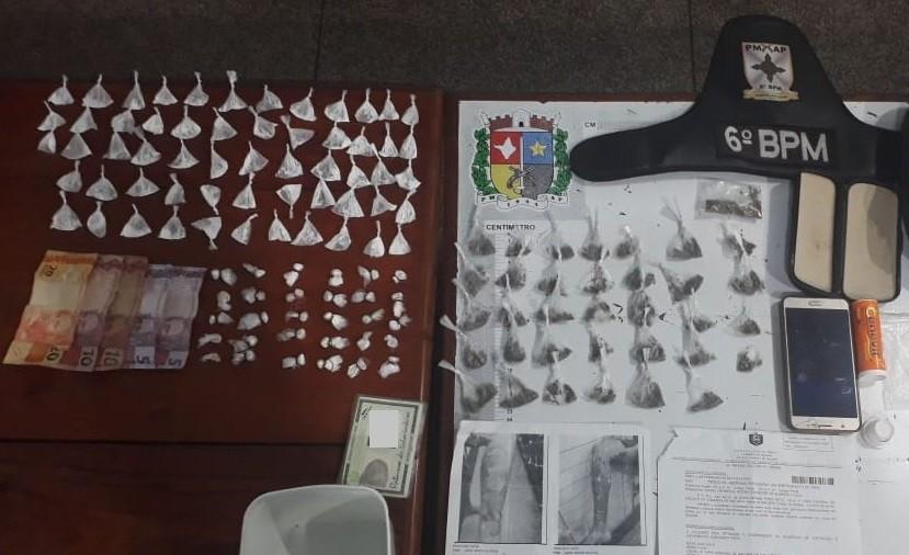 Casal de irmãos é preso com mais de 100 porções de drogas no Centro de Macapá - Notícias - Plantão Diário