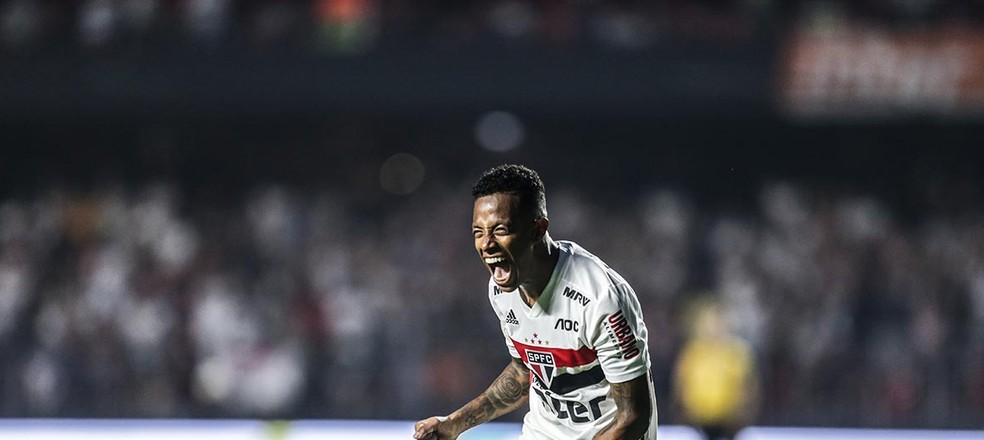 São Paulo não terá Tchê Tchê contra o Galo — Foto: Paulo Pinto / saopaulofc.net