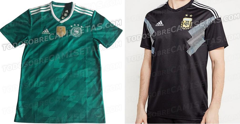 68372155a ... Camisas reservas Alemanha Argentina Copa do Mundo — Foto  Reprodução