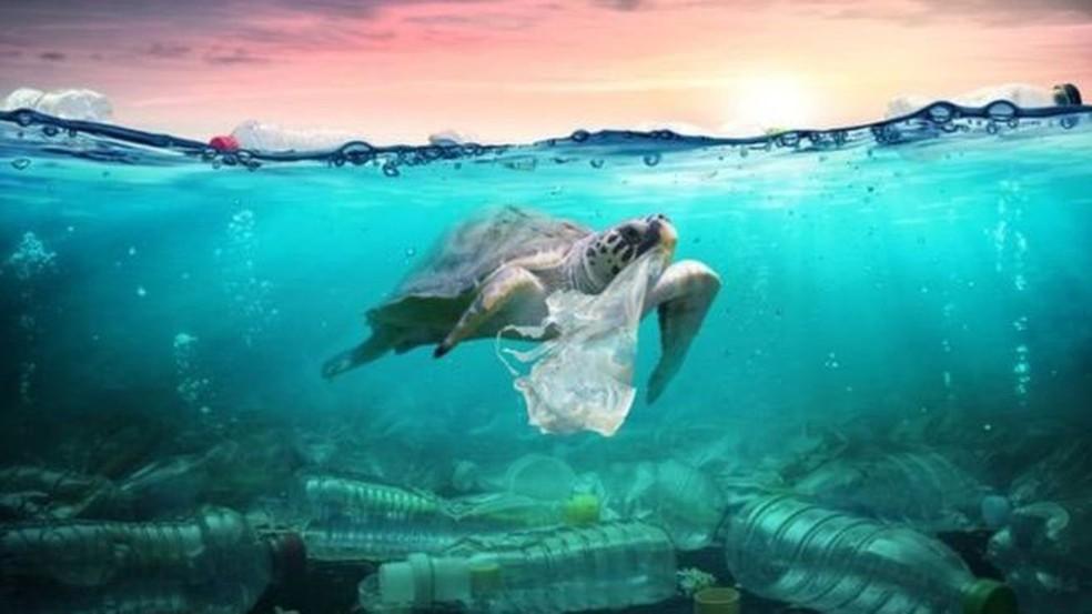 Será que podemos dizer que estamos vivendo a era do plástico?  — Foto: Getty Images/ BBC