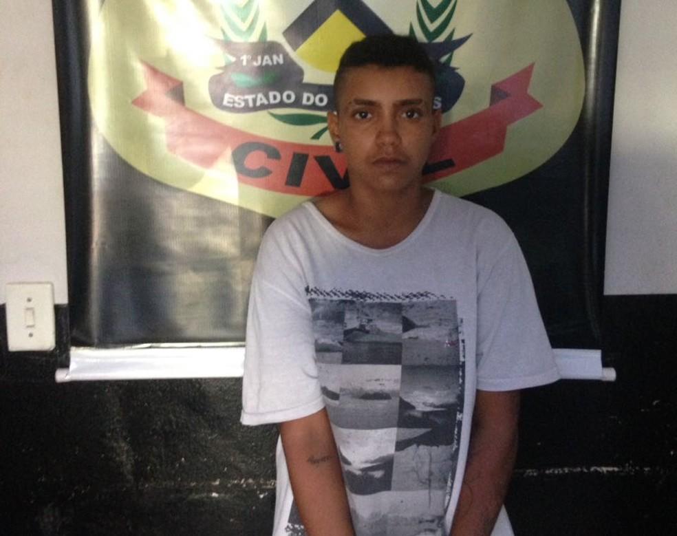 Suspeita de assatos em Araguaína foi presa pela Polícia Civil — Foto: Divulgação/Polícia Civil