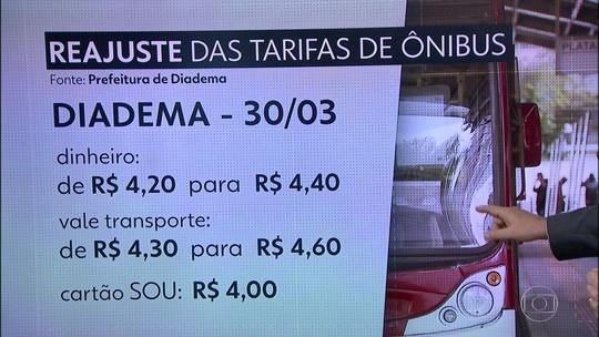 Tarifa de ônibus vai subir em Diadema, Santo André e São Caetano no feriado