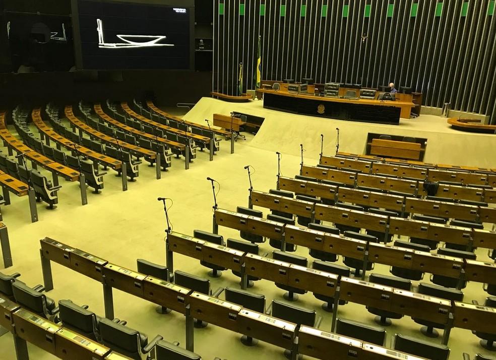 Plenário da Câmara nesta quinta-feira (16) (Foto: Fernanda Calgaro/G1)