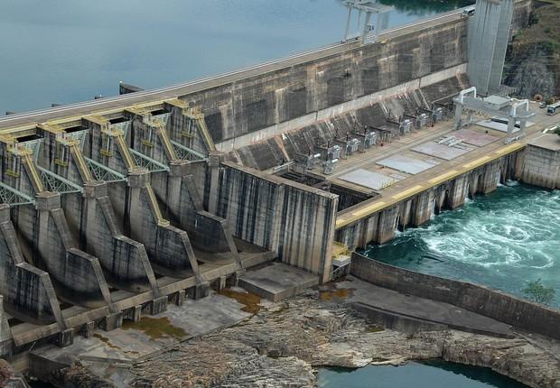 Usina hidrelétrica de Jaguara, que pertence à Cemig: leilão (Foto: Wikimedia Commons/Wikipedia)