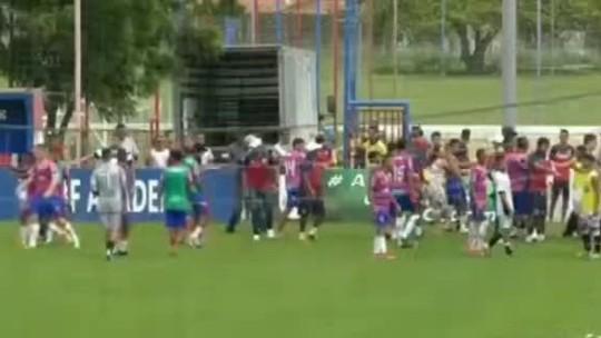 Clássico-Rei Sub-17 termina com Ceará vencedor, e vestiário de CT do Fortaleza é quebrado