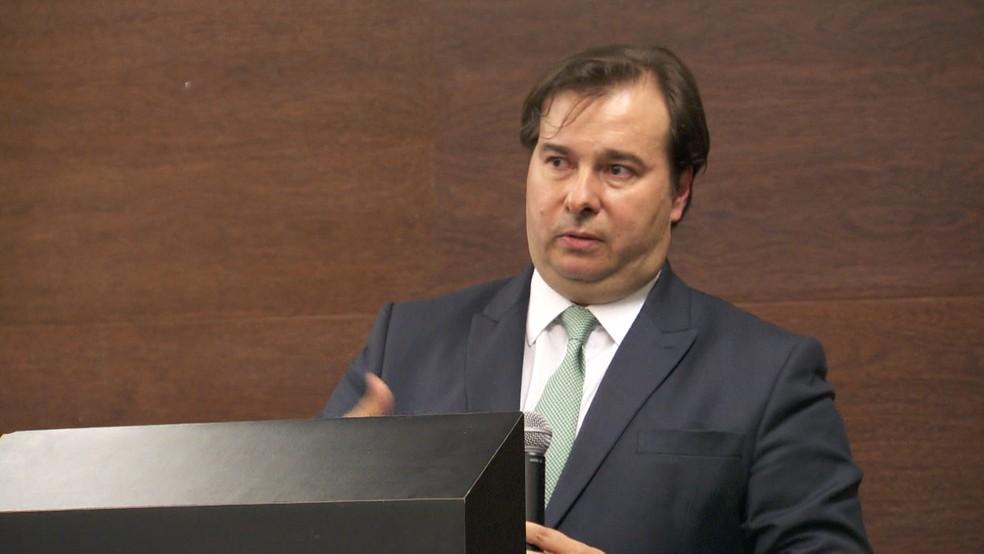 O presidente da Câmara dos Deputados, Rodrigo Maia (DEM-RJ) — Foto: GloboNews / Reprodução