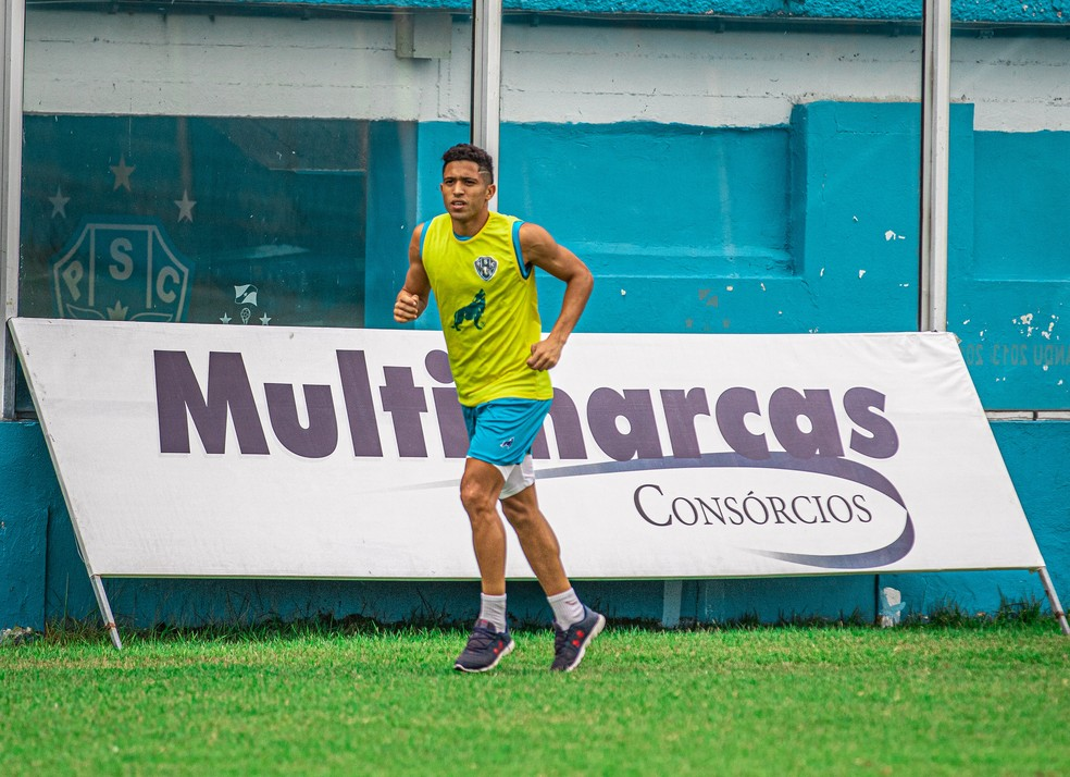 Marlon segue realizando tratamento de uma lesão — Foto: Jorge Luís Totti/Ascom Paysandu