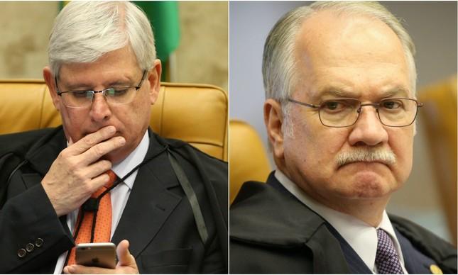 O procurador-geral da República, Rodrigo Janot, e o ministro do STF Edson Fachin