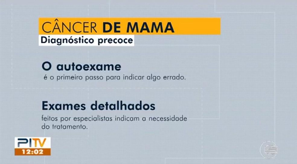 Diagnóstico precoce para o câncer de mama.  — Foto: Foto: Reprodução/Piauí TV 1