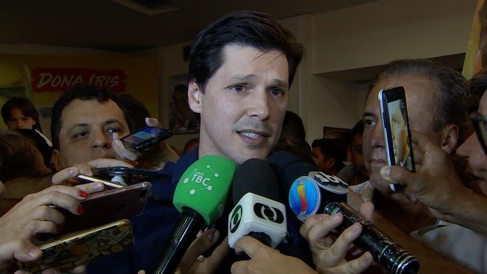 Daniel Vilela é candidato a governador de Goiás pelo MDB (Foto: Reprodução/ TV Anhanguera)
