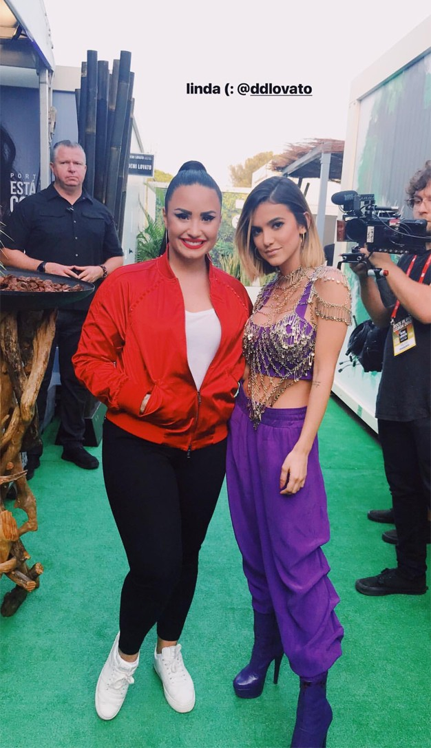 Demi Lovato e Manu Gavassi (Foto: Reprodução/Instagram)