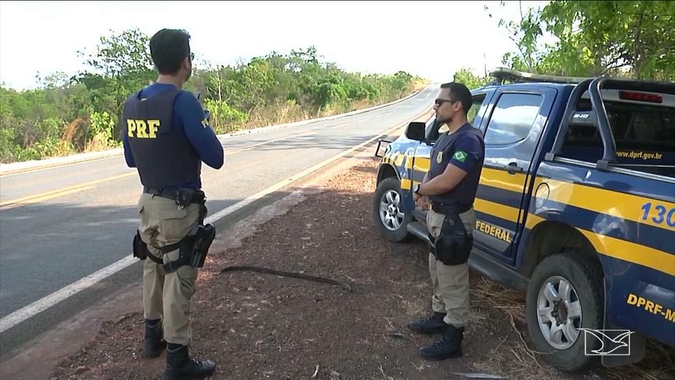 Polícia Rodoviária Federal realiza operação durante carnaval nas rodovias no Maranhão — Foto: Reprodução/TV Mirante