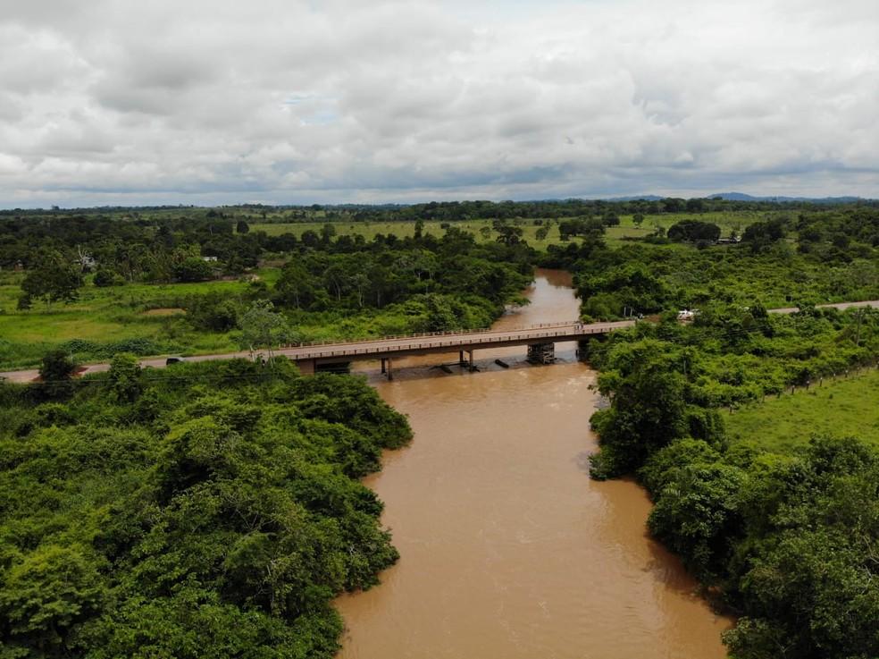 Ponte foi interditada no último dia 14 de novembro por problemas na estrutura.  — Foto: Divulgação/DNIT