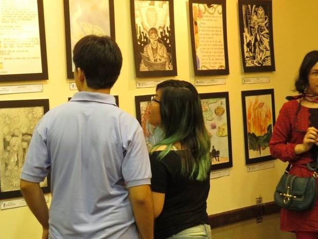 Exposição fica no saguão da unidade de Campinas, de 27 de abril até 9 de maio. (Foto: Fabio Vieira da Silva / Ânima Academia de Artes)