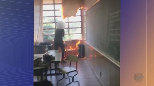 Alunos ateiam fogo a sala durante aula em escola estadual em Morro Agudo, SP