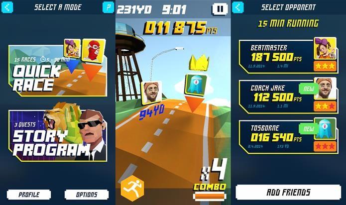 Shape Run é um jogo para Android onde você deve se exercitar para vencer (Foto: Divulgação)
