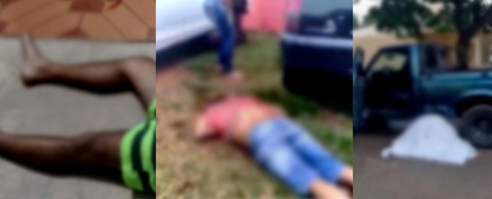 Jorge, foto no meio, foi atingido com ao menos nove tiros.  — Foto: Reprodução