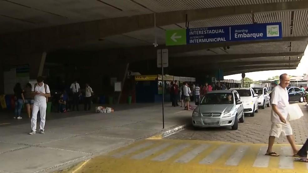 Rodoviária de João Pessoa Terminal Rodoviário de João Pessoa, antes da pandemia — Foto: Reprodução/TV Cabo Branco/Arquivo