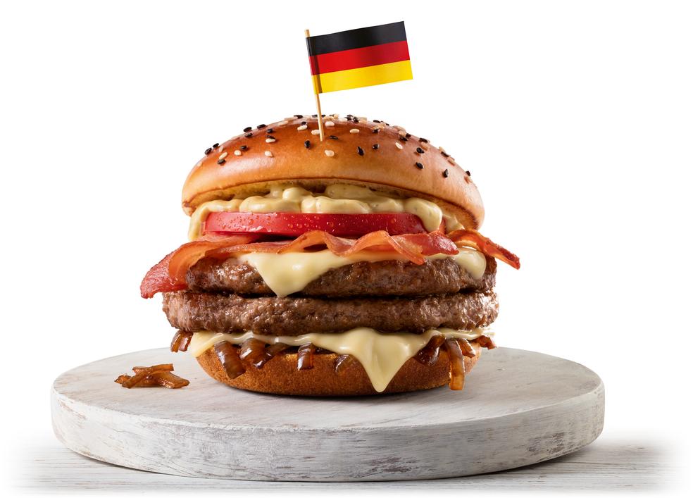 McAlemanha, um dos sanduíches lançados pelo McDonald's para a Copa do Mundo (Foto: Divulgação)