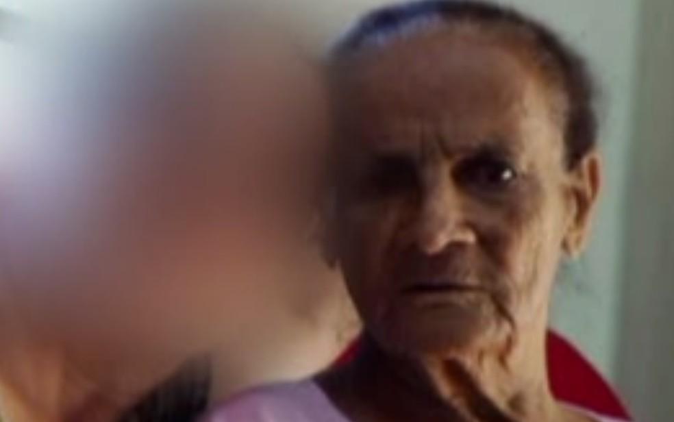 Antônia Vieira Marciel ficou internada na UTI de hospital e família diz que ela também foi vítima de abuso — Foto: Reprodução/TV Anhanguera