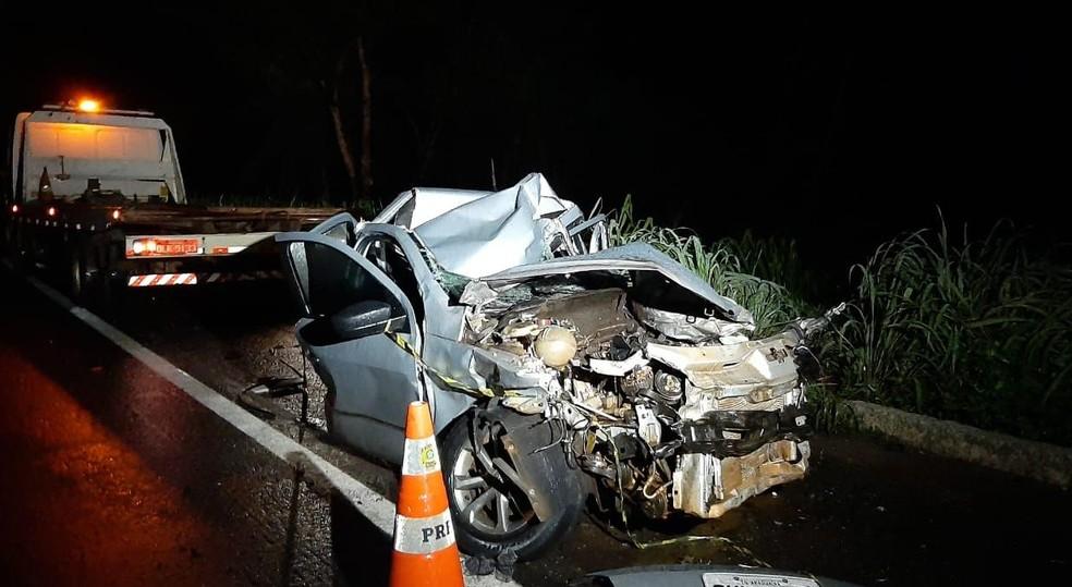 Irmão de deputado federal morreu em acidente na BR-153, perto de Araguaína — Foto: Túlio Alves/TV Anhanguera