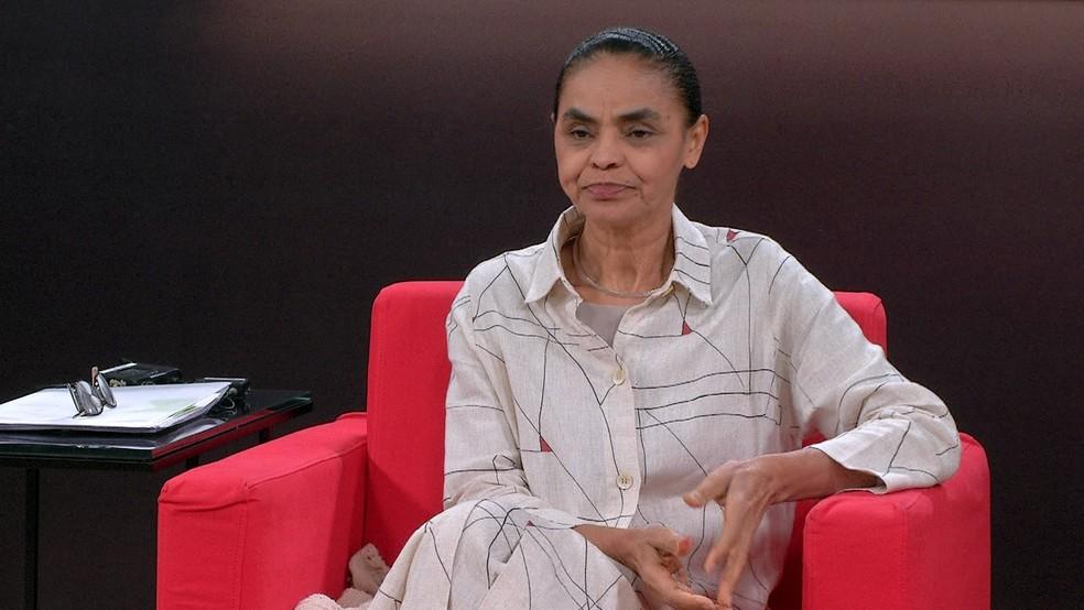 A ex-senadora Marina Silva, pré-candidata da Rede Sustentabilidade à Presidência da República (Foto: Reprodução/GloboNews)