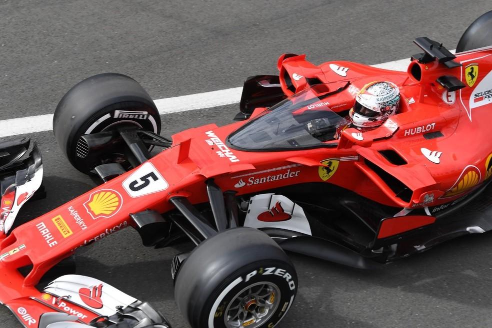 Vettel testou o Shield em Silverstone, e não gostou (Foto: Reprodução/Twitter)