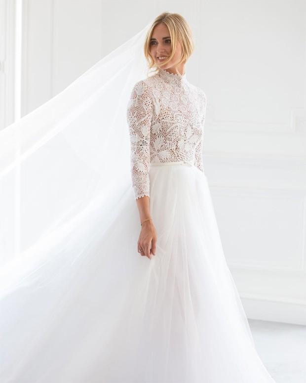 Chiara Ferragni se casa com o rapper Fedez (Foto: Reprodução / Instagram Dior)