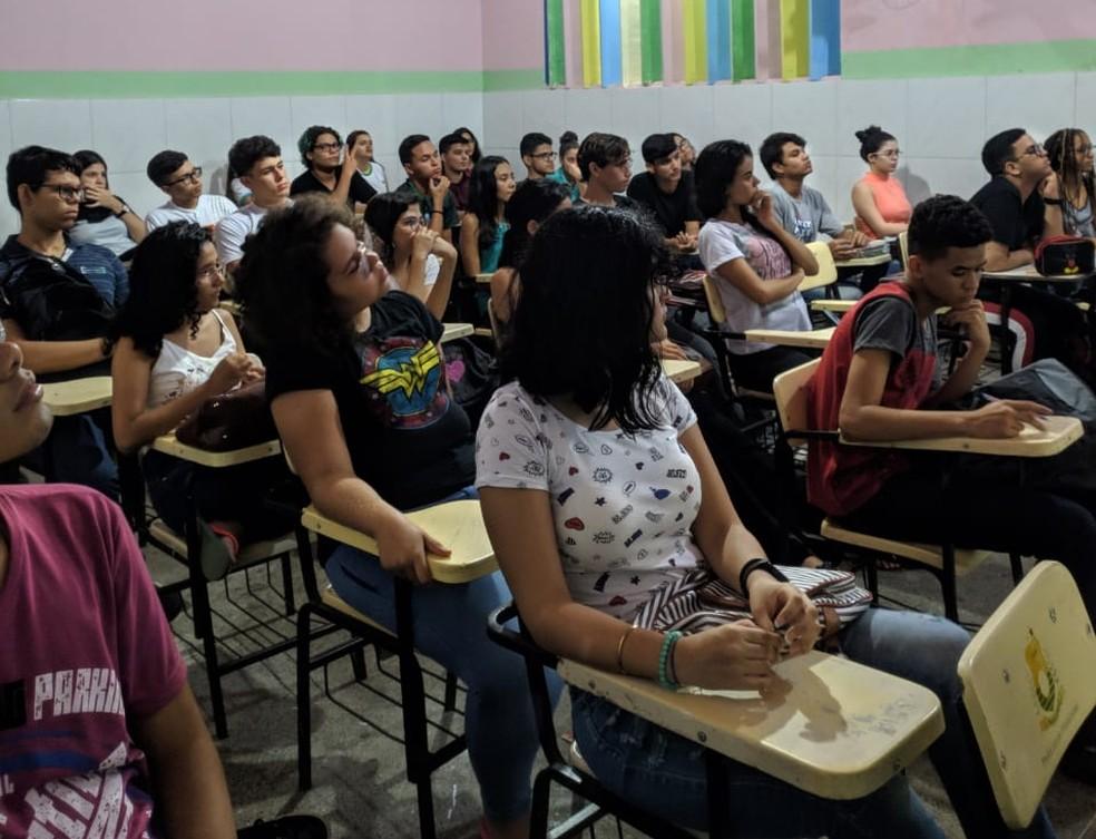 No Projeto 6 de Março, em Maracanaú (CE), a primeira semana de aula de 2020 foi presencial.  — Foto: Arquivo pessoal