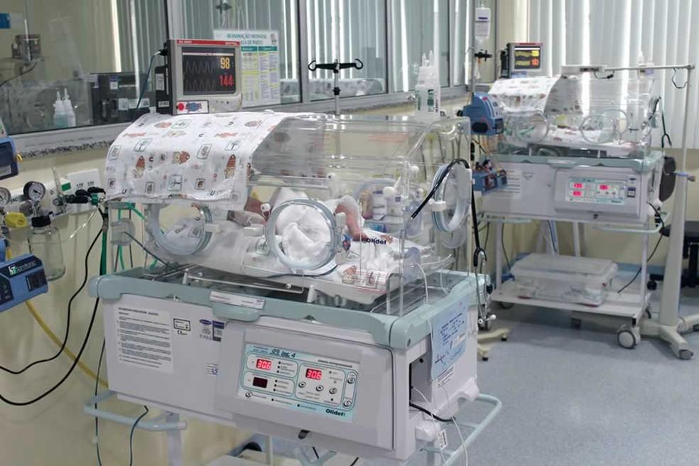 Bebês recém-nascidos em UTI da Santa Casa de São José dos Campos, em São Paulo. — Foto: Divulgação/Santa Casa SJC