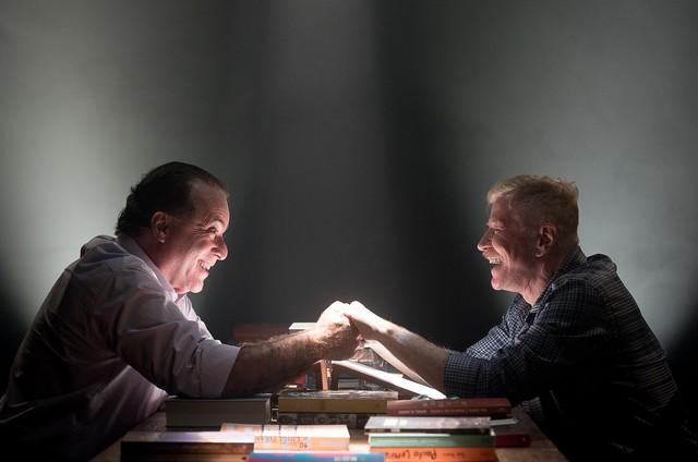 Tony Ramos e Miguel Falabella no programa 'A arte do encontro' (Foto: Ana Paula Amorim)