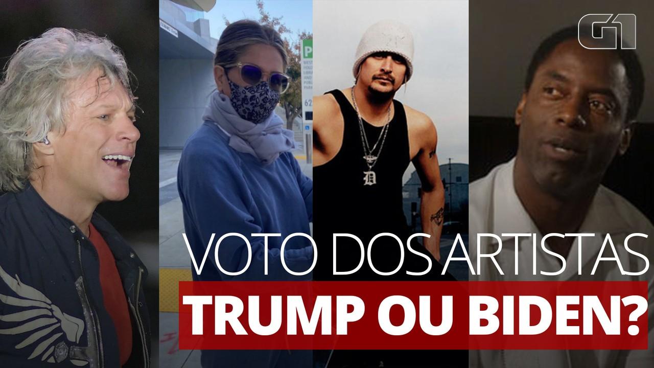 Saiba em quem os artistas votam nos Estados Unidos