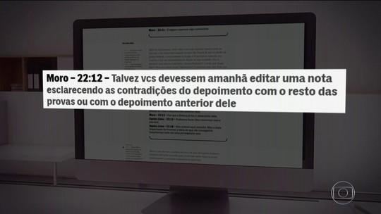 Site divulga nova conversa atribuída a Moro em que ele sugere resposta da Lava Jato a 'showzinho' da defesa de Lula