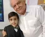 Haroun Abud e Othon Bastos nos bastidores de 'Espelho da vida' | Arquivo pessoal