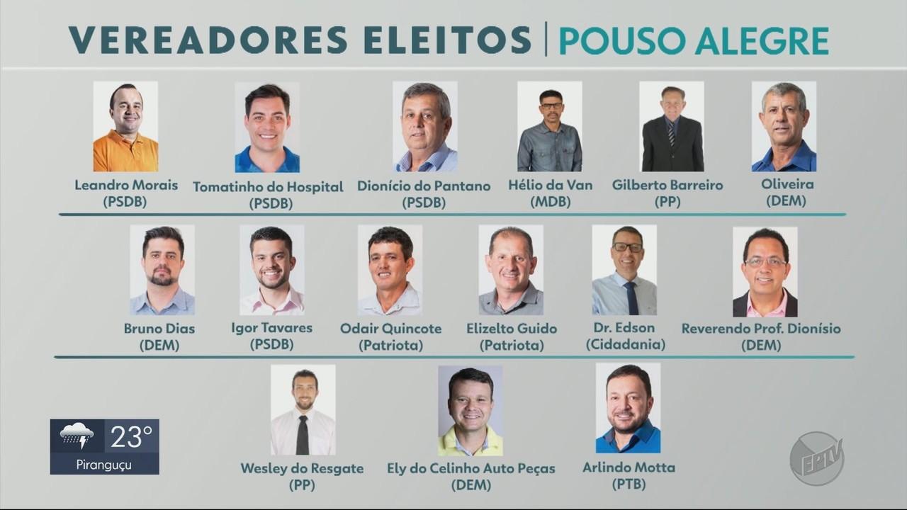 Pouso Alegre elege apenas vereadores homens e brancos para Câmara Municipal