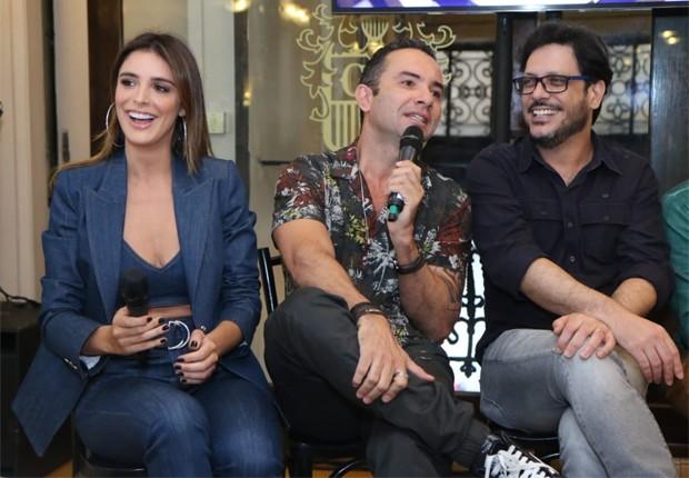 Rafa Brites, Marco Luque e Lúcio Mauro Filho (Foto: Daniel Pinheiro/Quem)