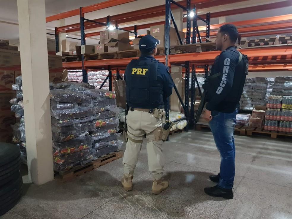 Carga de produtos roubados foi recuperada pela polícia no Piauí. — Foto: Divulgação/Polícia Civil