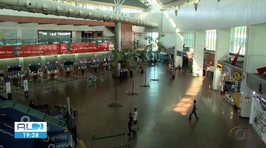 Redução de vôos no aeroporto de AL deixa quem depende do movimento de passageiros no prejuízo