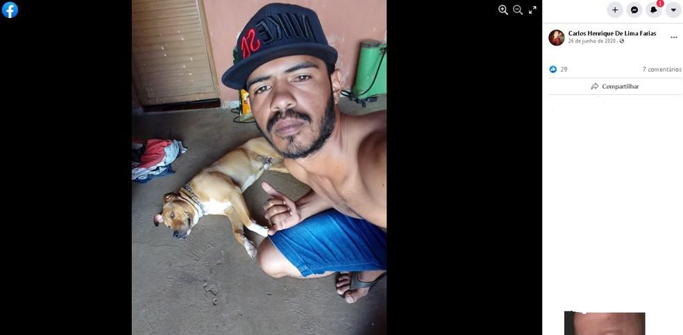 Carlos Henrique de 24 anos é uma das vítimas do acidente em João Ramalho  — Foto: Facebook/ Reprodução