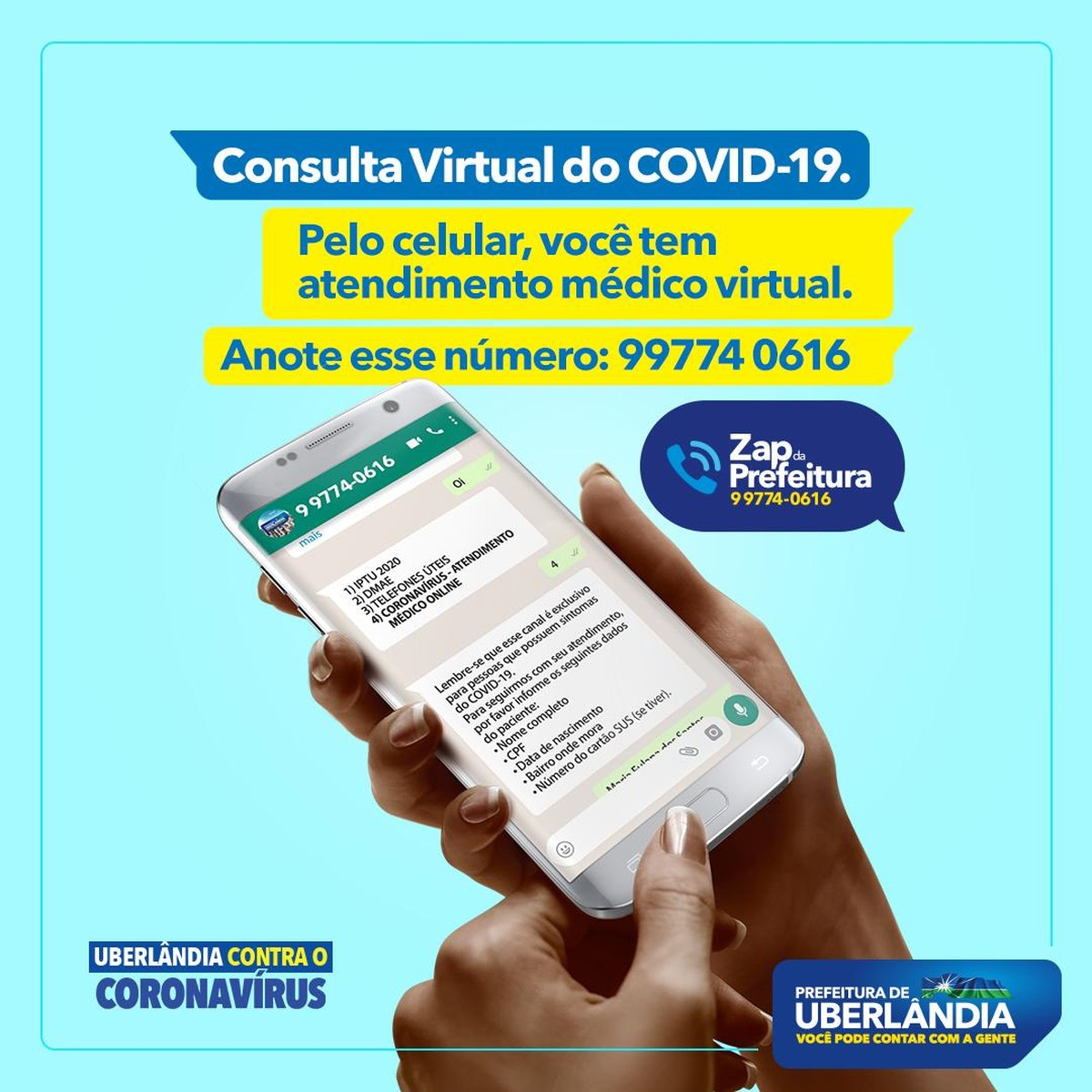 Coronavírus: Prefeitura de Uberlândia cria atendimento médico virtual para  evitar aglomerações em unidades de saúde   Triângulo Mineiro