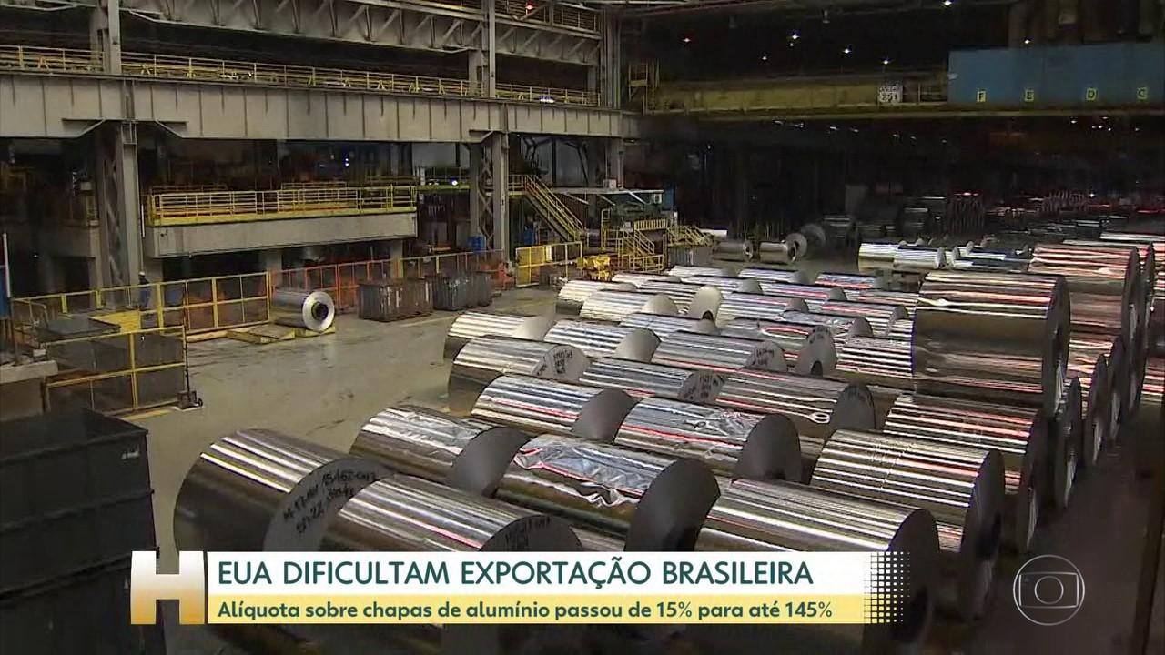 EUA aumentam taxa sobre chapas de alumínio importadas do Brasil e mais 17 países