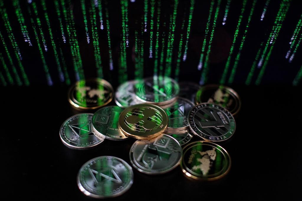 criptomoedas litecoin, ripple e ethereum  (Foto: Jack Taylor/Getty Images)