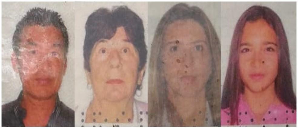 Vítimas identificadas que estavam em helicóptero: Marcos Minomo, Iracema Ávila, Natalia Ávila e Lavínia Ávila — Foto: Willian Tanida/TV Diário