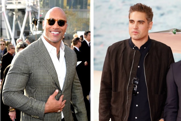 O ator Dwayne The Rock Johnson e o músico Charlie Simpson (Foto: Getty Images)