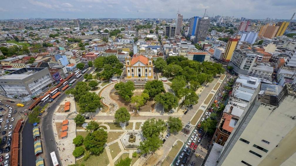 Centro histórico de Manaus, capital construída no coração da Floresta Amazônica — Foto: Semcom