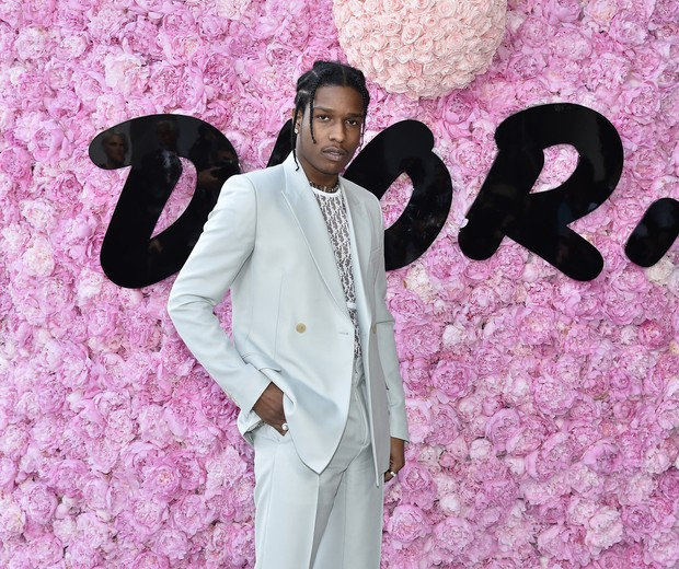 PARIS, FRANCE - JUNE 23: ASAP Rocky attends the Dior Homme Menswear Spring/Summer 2019 show as part of Paris Fashion Week on June 23, 2018 in Paris, France. (Foto: Jacopo Raule/Getty Images for Dior)
