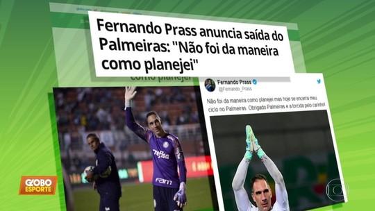 """Prass anuncia saída do Palmeiras: """"Não foi da maneira como planejei"""""""