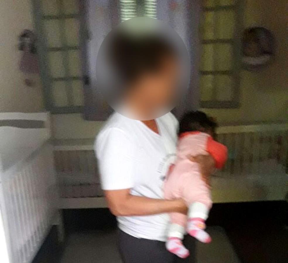 Foto enviada pela escola para a mãe da bebê no dia em que a menina morreu, em Campinas (Foto: Devair Maciel / Arquivo pessoal)