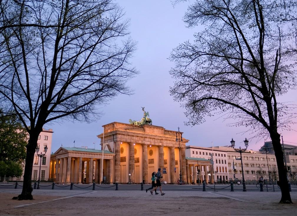 Portão de Brandenburgo, em Berlim, em 16 de abril de 2020 — Foto: Christian Mang/Reuters