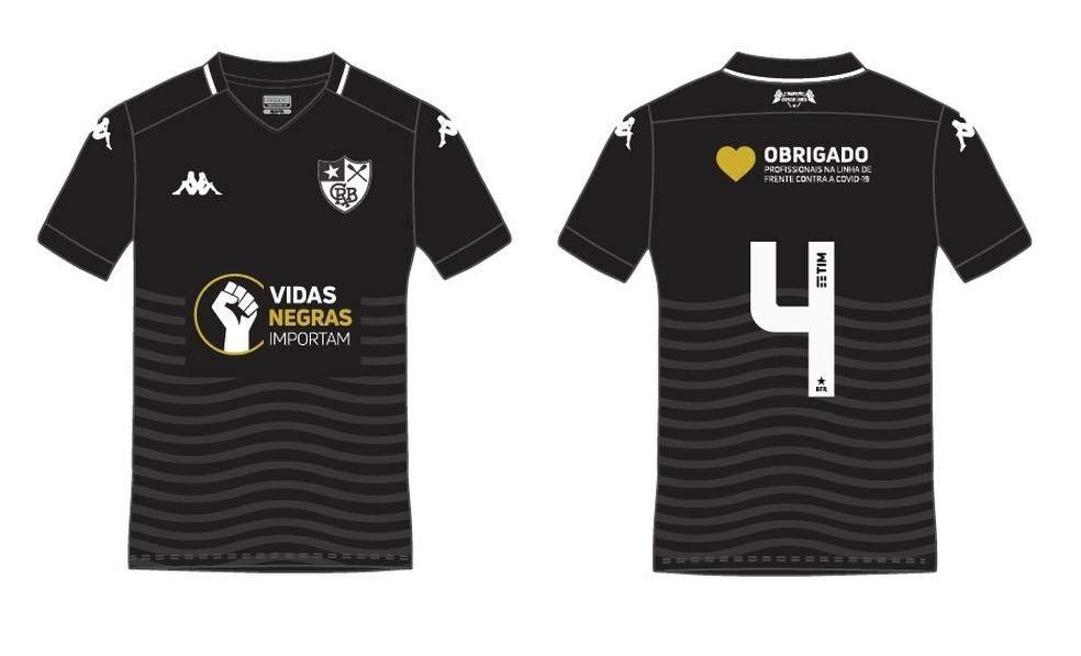 Ilustração mostra possível camisa do Botafogo contra a Cabofriense — Foto: Reprodução